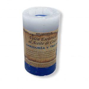 Vela de coco azul