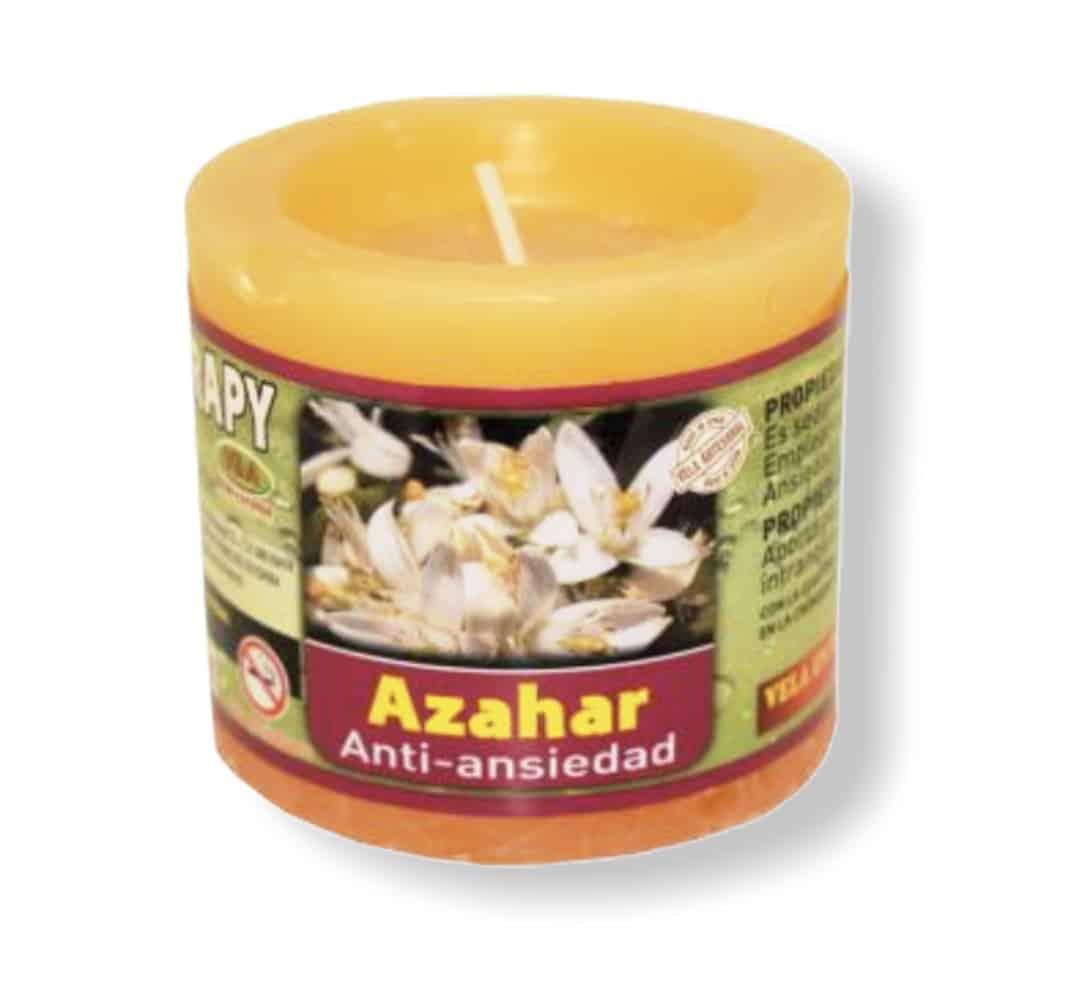 Velón aromaterapia azahar