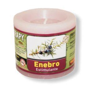 Velón aromaterapia enebro