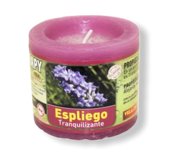 Velón aromaterapia espliego