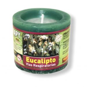 Velón aromaterapia eucalipto