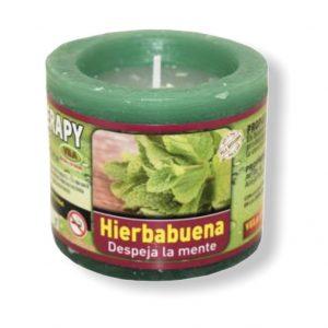Velón aromaterapia hierbabuena