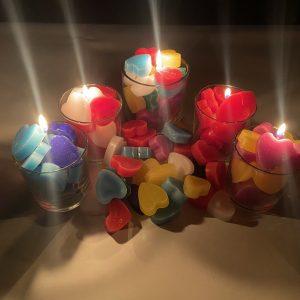 velas de corazones
